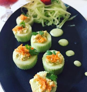 Cucumber Cocktail Bites